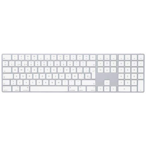 Teclado Apple Magic Keyboard Inalámbrico con Numérico - Silver