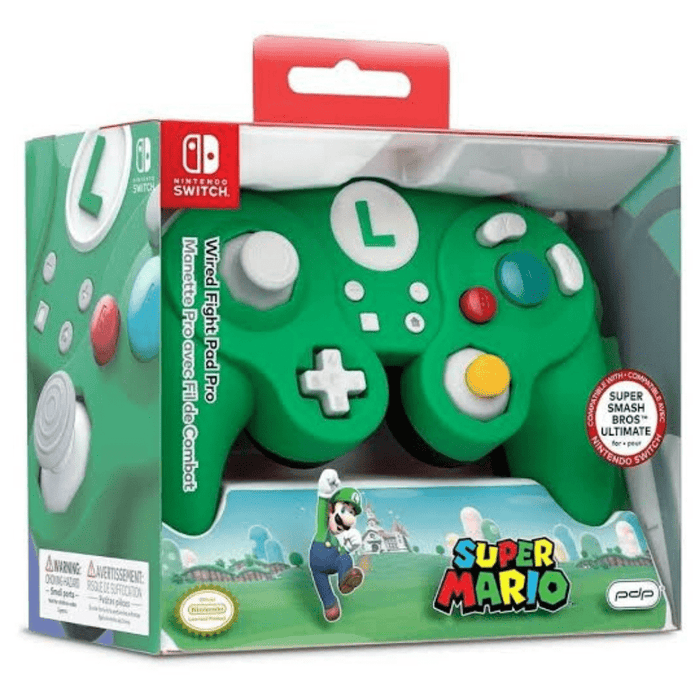 Control Nintendo Switch alámbrico Fight Pad Pro Super Mario - Luigi