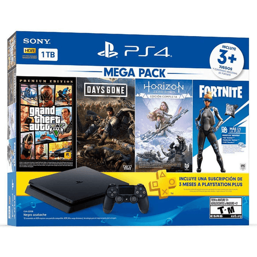 Consola Playstation 4 Slim Hits 2019 + 4 juegos - iMports 77