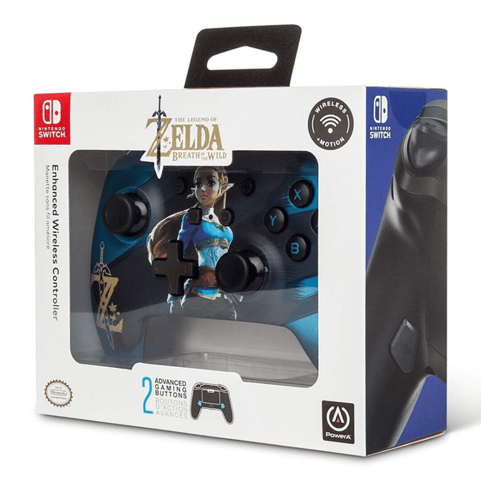 Control Inalámbrico Nintendo Switch PowerA -Satin Chrome Zelda