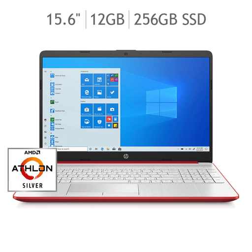 Laptop HP Pavilion 15-GW0001LA Athlon 12+256GB SSD - Rojo