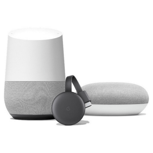 Bundle 3 Pack Google Home + Home Mini + Chromecast 3rd Gen