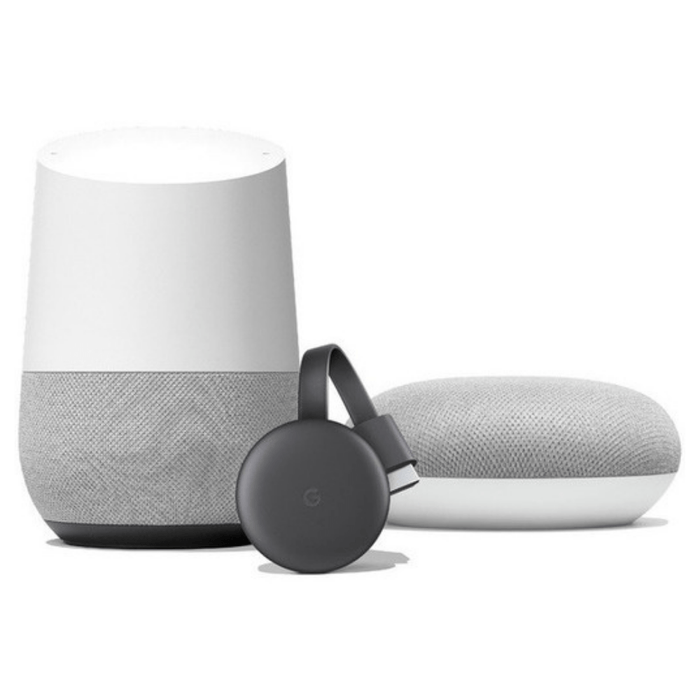 Bundle 3 Pack Google Home + Home Mini + Chromecast 3rd Gen - iMports 77
