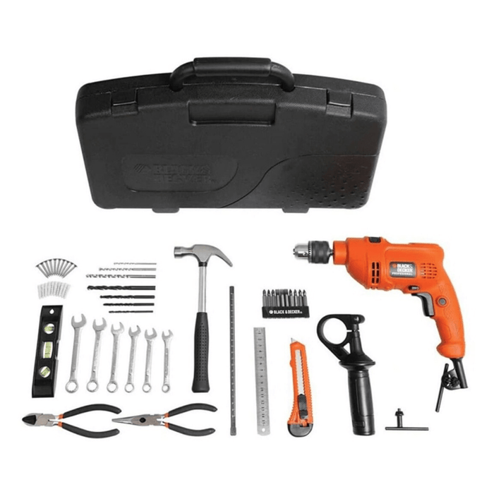 Taladro Black and Decker 550W + Kit TM550KP