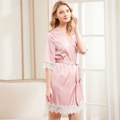 Pink Lace Trim Nightgown