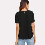 Black Cut Out V Choker Top