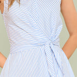 Knot Waist Striped Dress