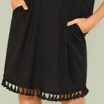 Tassel Shift Dress