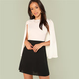 Two Tone Cape Dress