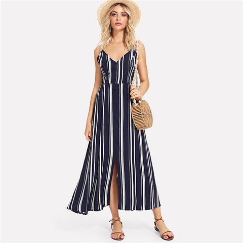 Navy Striped Weekend Dress