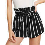 Tie Waist Striped Shorts