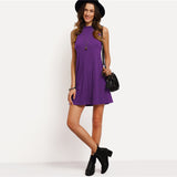 High Neck Casual Dress