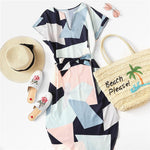 Geo Print Casual Dress