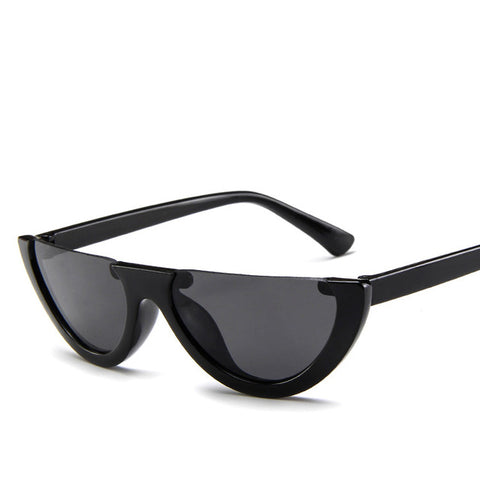 Half Frame Retro Sunglasses