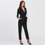 Black Blazer Jumpsuit