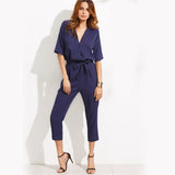 Belted Low Neck Jumpsuit