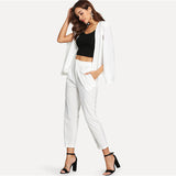 White Cape Two Piece Set