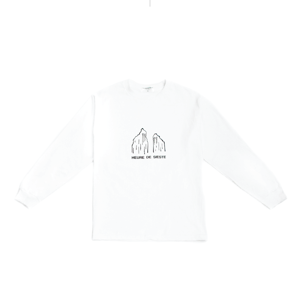 Ghost Long Sleeve Tee - White