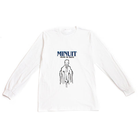 Minuit Long Sleeve Tee - White