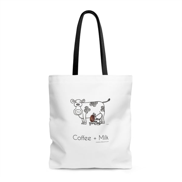 Coffee + Milk. AOP Tote Bag