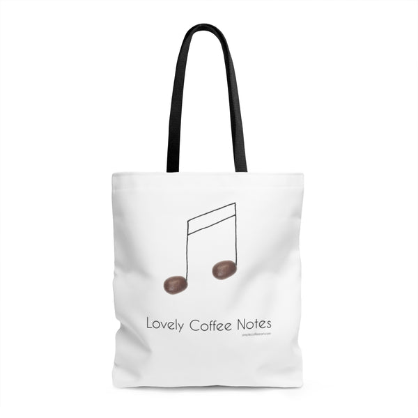 Lovely Coffee Notes. AOP Tote Bag