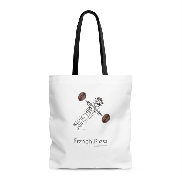 French Press. AOP Tote Bag