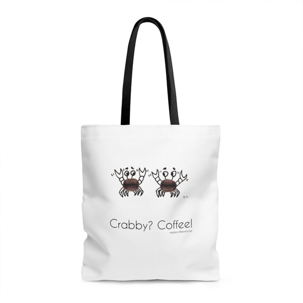 Crabby? Coffee! AOP Tote Bag