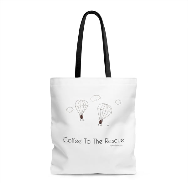 Coffee To The Rescue! AOP Tote Bag