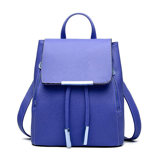 Cobalt Blue Signature Leather Satchel Backpack Handbag | Elegantbags.shop