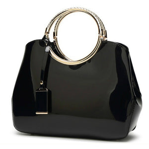 Midnight Signature Round-Handle Evening Satchel Fashion HandBag | Elegantbags.shop