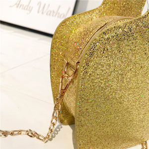 Women's Fashion Fun Sequined Tequila Shoulder Handbag With Crossbody Chain - ElegantBags.Shop