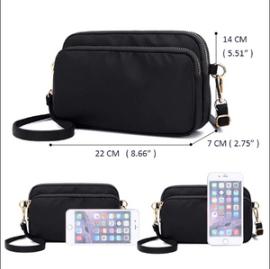 Women's Large Casual Clutch Nylon Handbag With Detachable Strap - ElegantBags.Shop