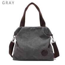 Women's Large Pocket Casual Canvas Tote Handbag
