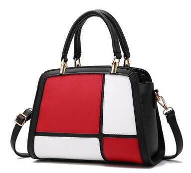 Women's Quality Contrast Color Leather Shoulder Handbag - ElegantBags.Shop