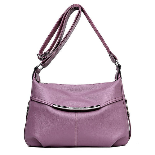 Women's Fashion Patchwork Genuine Leather Crossbody Handbag - ElegantBags.Shop