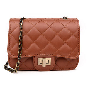 Women's Fashion Crossbody Shoulder Bag Messenger Diamond Quilted Handbag - ElegantBags.Shop