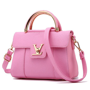 Women's Luxury PU Leather Clutch Cross-body Satchel Handbag - ElegantBags.Shop