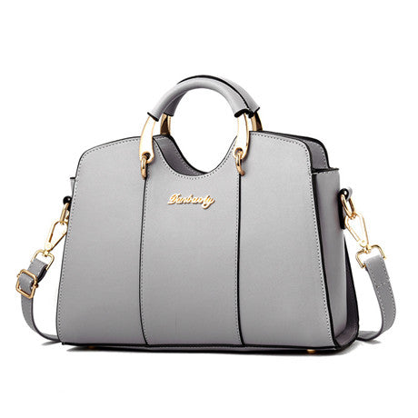 Women's Vintage Leather Top Handle  Shoulder HandBag - ElegantBags.Shop