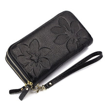 Women's Fashion Floral Embossed Envelope Leather Wristlet Clutch Handbag - ElegantBags.Shop
