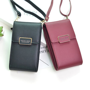 Women's Fashion Leather Wallet Messenger Phone Handbag - ElegantBags.Shop