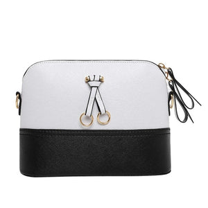 Women's Small Leather Fashion Shell Style Handbag With Ornament
