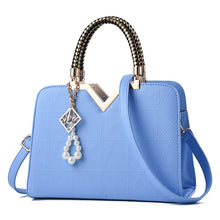 Women's Summer Fashion Leather Top Handle Handbag With Charms - ElegantBags.Shop