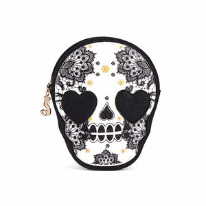 Women's Fashion Casual Sugar Skull Crossbody Handbag - ElegantBags.Shop