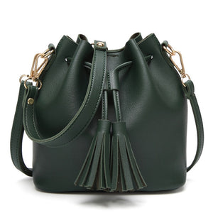 Women's Leather Mini Drawstring Fashion Hobo Handbag - ElegantBags.Shop