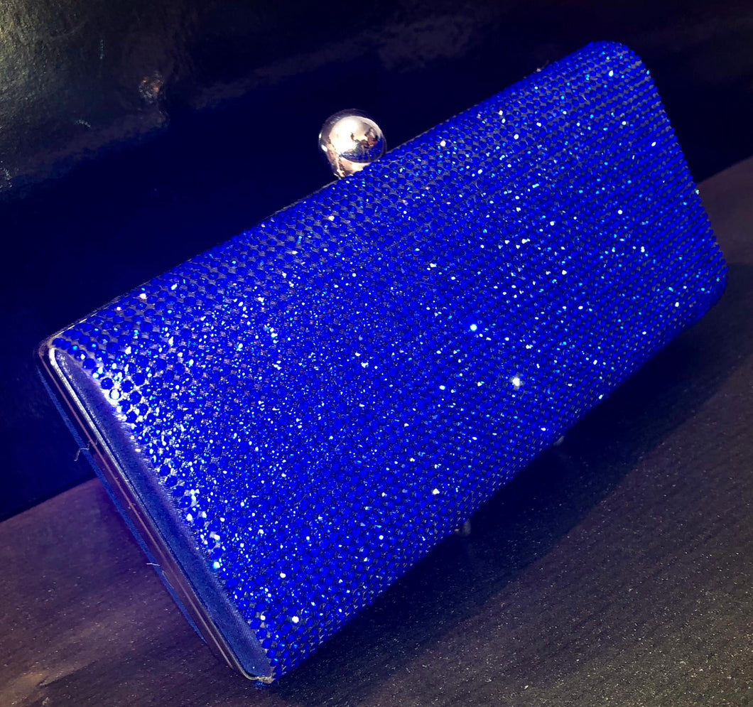 Royal blue diamonte bag- Small