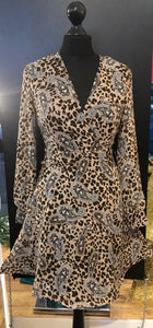 Animal print swing style dress
