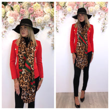 Load image into Gallery viewer, Gucci style animal print scarf