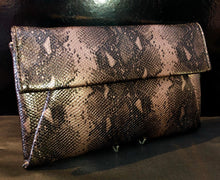 Load image into Gallery viewer, Bronze snake print bag