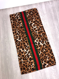 Gucci style animal print scarf