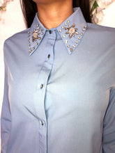 Load image into Gallery viewer, Jojo diamonte collar blouse- Powder blue